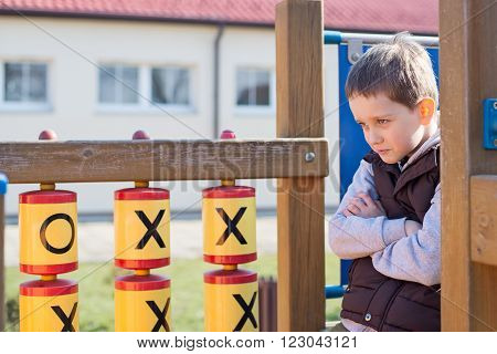 Offended Boy On The Playground