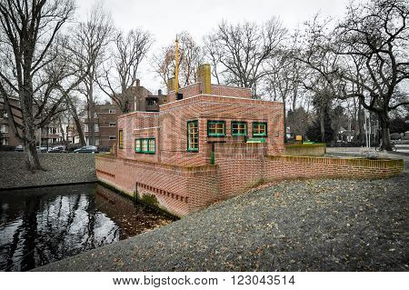 Pump station / house at park Laapersveld in Hilversum