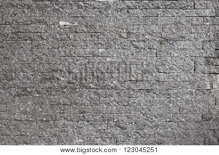 The old gray brick wall high detail
