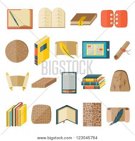 Books icons document magazine publication typography and books icons publishing knowledge typography bookstore vector. Book cartoon icons included normal typography library education state vector.