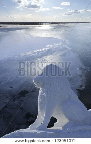 snow lion - guardian of the frozen ice of eternity
