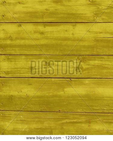 Yellow Wet Wooden Hangar Wall.