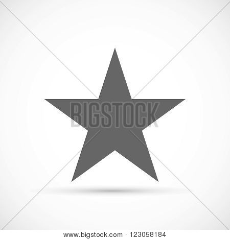 Classic star icon. Rate symbol. Mark sing