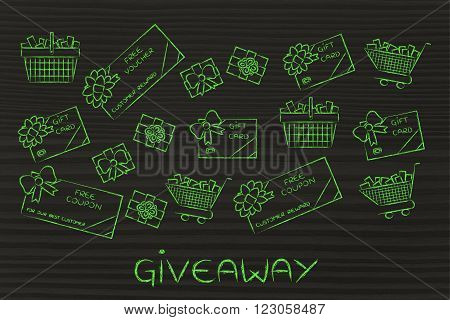 Shopping Carts, Gift Cards, Free Vouchers: Giveaway