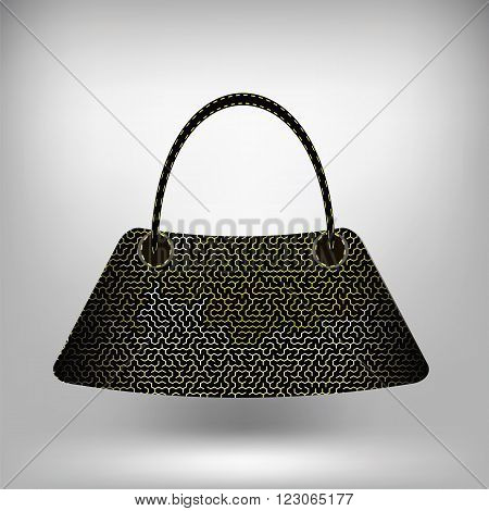 Modern Handbag Isolated on Gray Soft Background