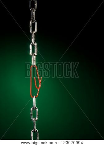 chain with paperclip