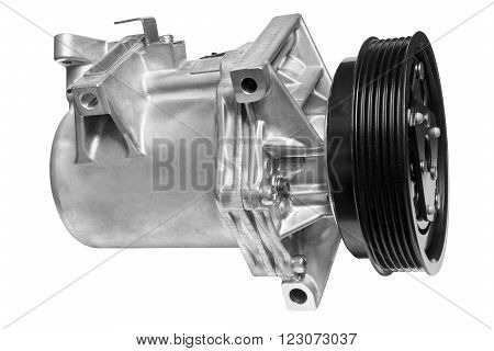 Air conditioning compressor on a white background