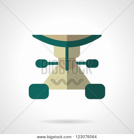 Green color longboard suspension. Longboard parts. Repair services or shops for longboarding. Vector icon flat color style. Web design element for site, mobile and business.