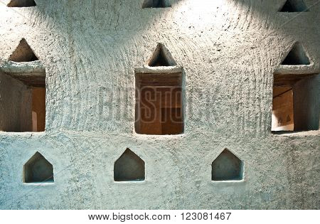 Riyadh, Saudi Arabia - November 29, 2008: The inside of the Masmak Fortress (XIX century) in the old city center.
