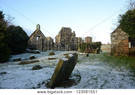The remains of an old church in Carnock