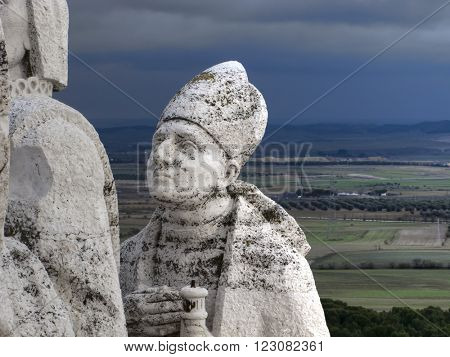 faith, Cerro de los Angeles in Getafe, Madrid. monument inaugurated by King Alfonso XIII