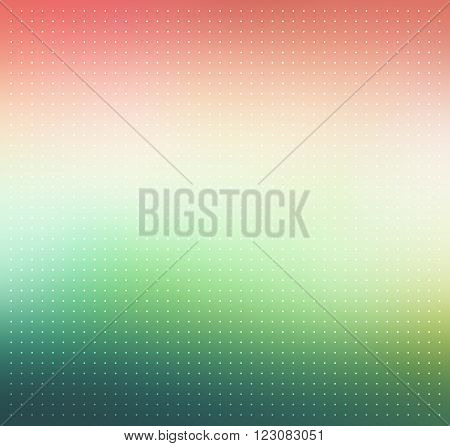 Colorful blurry abstract background with dotted texture. Pink, beige and green colored gradient background. Abstract background with halftone effect. Vector illustration