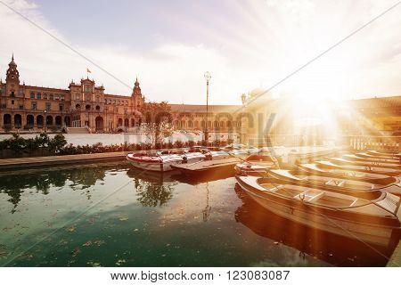 Plaza de Espana in Seville Andalucia Spain