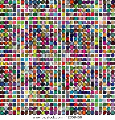 Seamless vector background made of multicolored tumbled stones