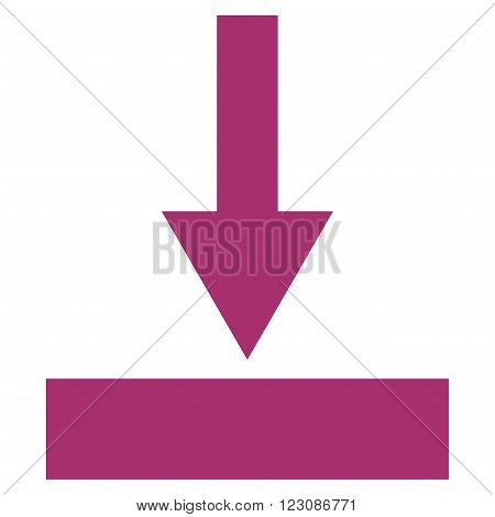 Move Bottom vector icon. Style is flat icon symbol, purple color, white background.