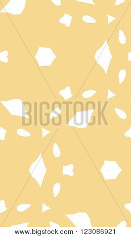 Light Brown Seamless Pattern Of Abstract Shapes