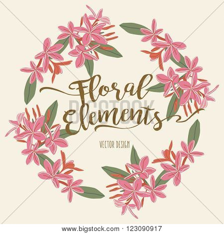Floral Wreath Element