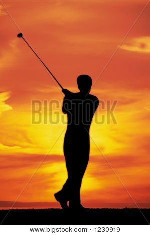 Playing Golf At Dawn