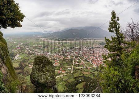 Meteora Mountain In Greece