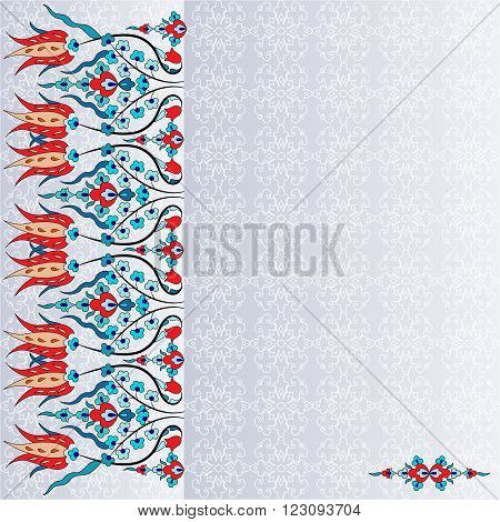 colorful antique ottoman turkish design pattern vector