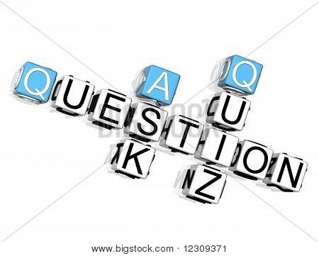 Question Quiz Ask Crossword