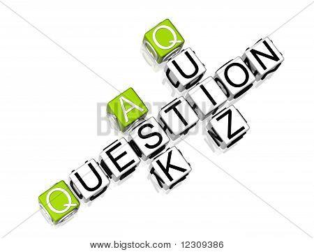 Question Quiz Ask Crossword