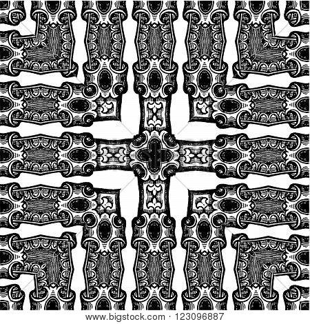Ornamental Pattern Background...