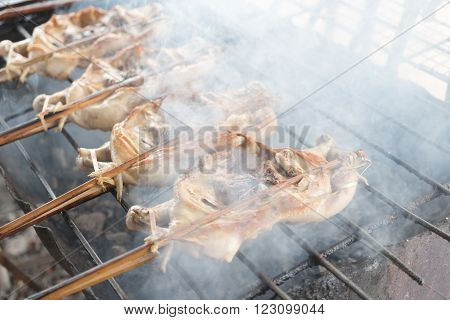 Grilled chicken with smoke causes of cancer