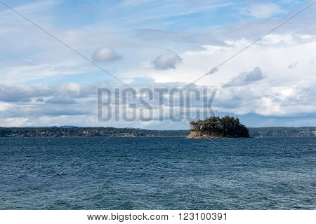 Cutts Island off the shore near Gig Harbor Washington