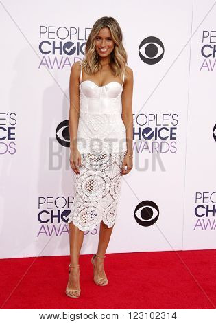 Renee Bargh at the 41st Annual People's Choice Awards held at the Nokia L.A. Live Theatre in Los Angeles on January 7, 2015.