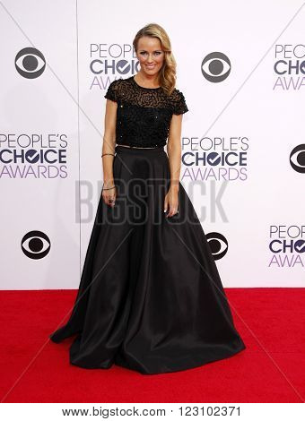 Ashlan Gorse at the 41st Annual People's Choice Awards held at the Nokia L.A. Live Theatre in Los Angeles on January 7, 2015.