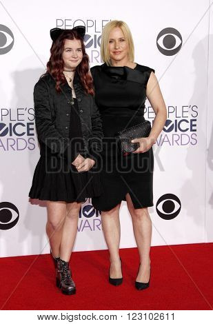 Patricia Arquette and Harlow Olivia Calliope Jane at the 41st Annual People's Choice Awards held at the Nokia L.A. Live Theatre in Los Angeles on January 7, 2015.