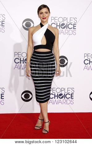 Katharine McPhee at the 41st Annual People's Choice Awards held at the Nokia L.A. Live Theatre in Los Angeles on January 7, 2015.