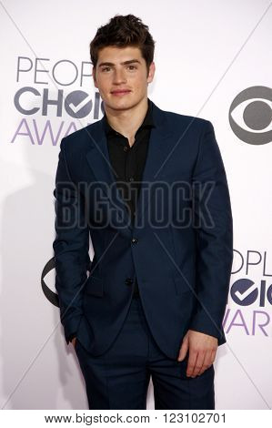 Gregg Sulkin at the 41st Annual People's Choice Awards held at the Nokia L.A. Live Theatre in Los Angeles on January 7, 2015.
