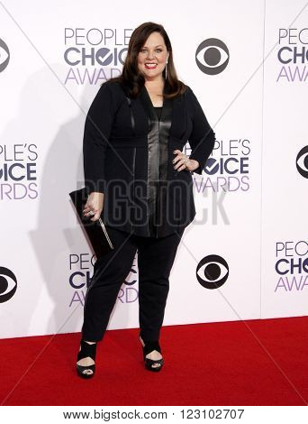 Melissa McCarthy at the 41st Annual People's Choice Awards held at the Nokia L.A. Live Theatre in Los Angeles on January 7, 2015.