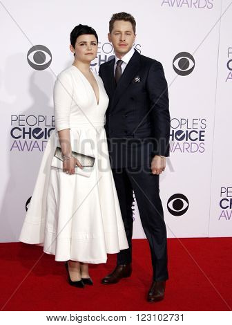 Ginnifer Goodwin and Josh Dallas at the 41st Annual People's Choice Awards held at the Nokia L.A. Live Theatre in Los Angeles on January 7, 2015.