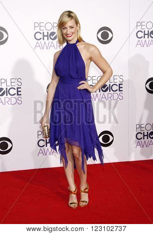 Beth Behrs at the 41st Annual People's Choice Awards held at the Nokia L.A. Live Theatre in Los Angeles on January 7, 2015.