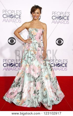Karina Smirnoff at the 41st Annual People's Choice Awards held at the Nokia L.A. Live Theatre in Los Angeles on January 7, 2015.