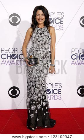 Lisa Edelstein at the 41st Annual People's Choice Awards held at the Nokia L.A. Live Theatre in Los Angeles on January 7, 2015.