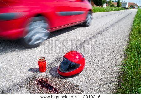 Accidente de moto. Accidente de tráfico