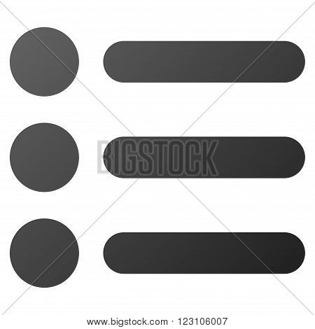Items vector toolbar icon. Style is gradient icon symbol on a white background.