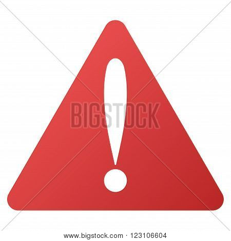Warning Error vector toolbar icon. Style is gradient icon symbol on a white background.