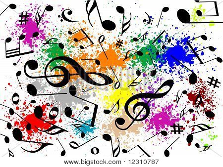 Abstract illustration of a musical background