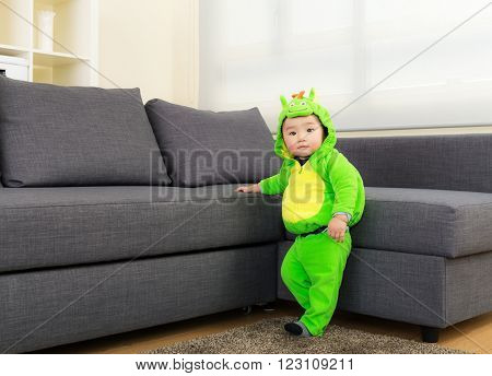 Baby boy with halloween party costume