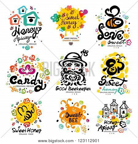 Sweet honey, candy characters.