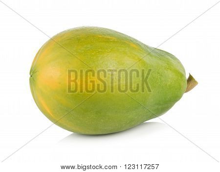 closeup papaya isolated on a white background