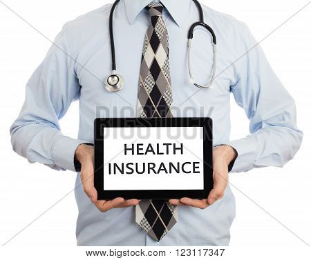 Doctor Holding Tablet - Health Insurance