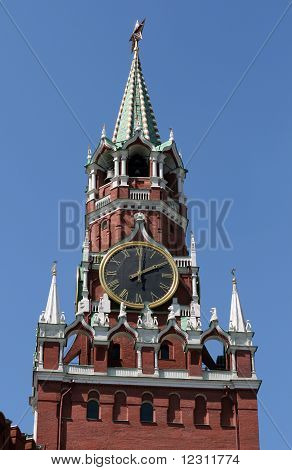 Tower of Moscow Kremlin Russia