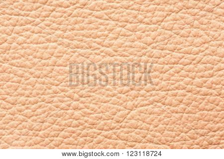 Beige color genuine leather texture background