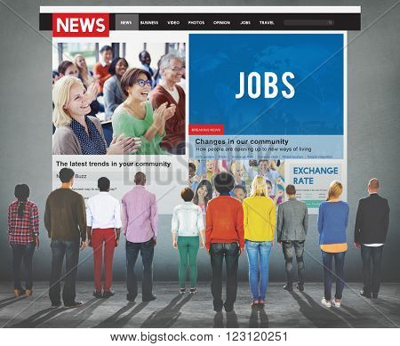 Group of People News Article Advertise Concept